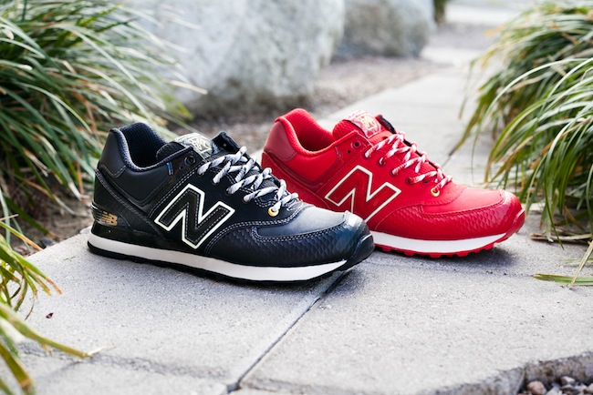 new balance 574 snake red